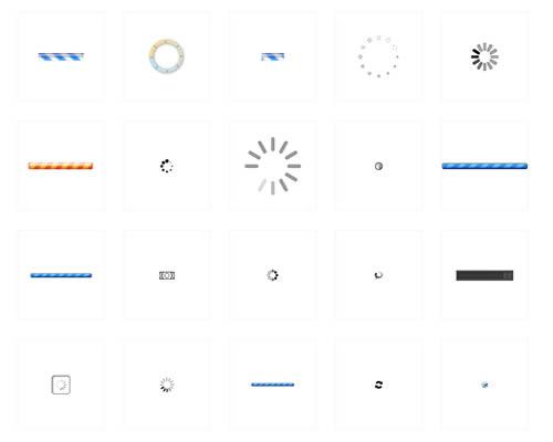 loading图标加载中gif素材动画读取条转圈图片